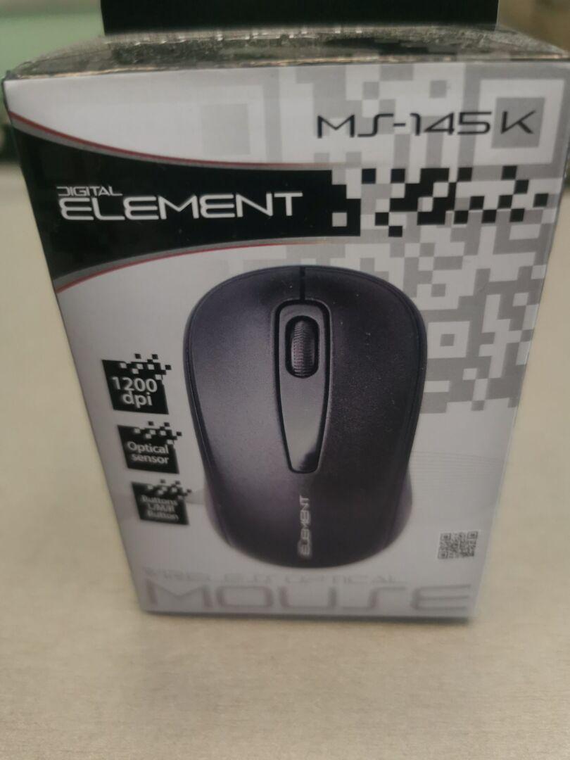Element MS-145K Ασύρματο Ποντίκι Μαύρο